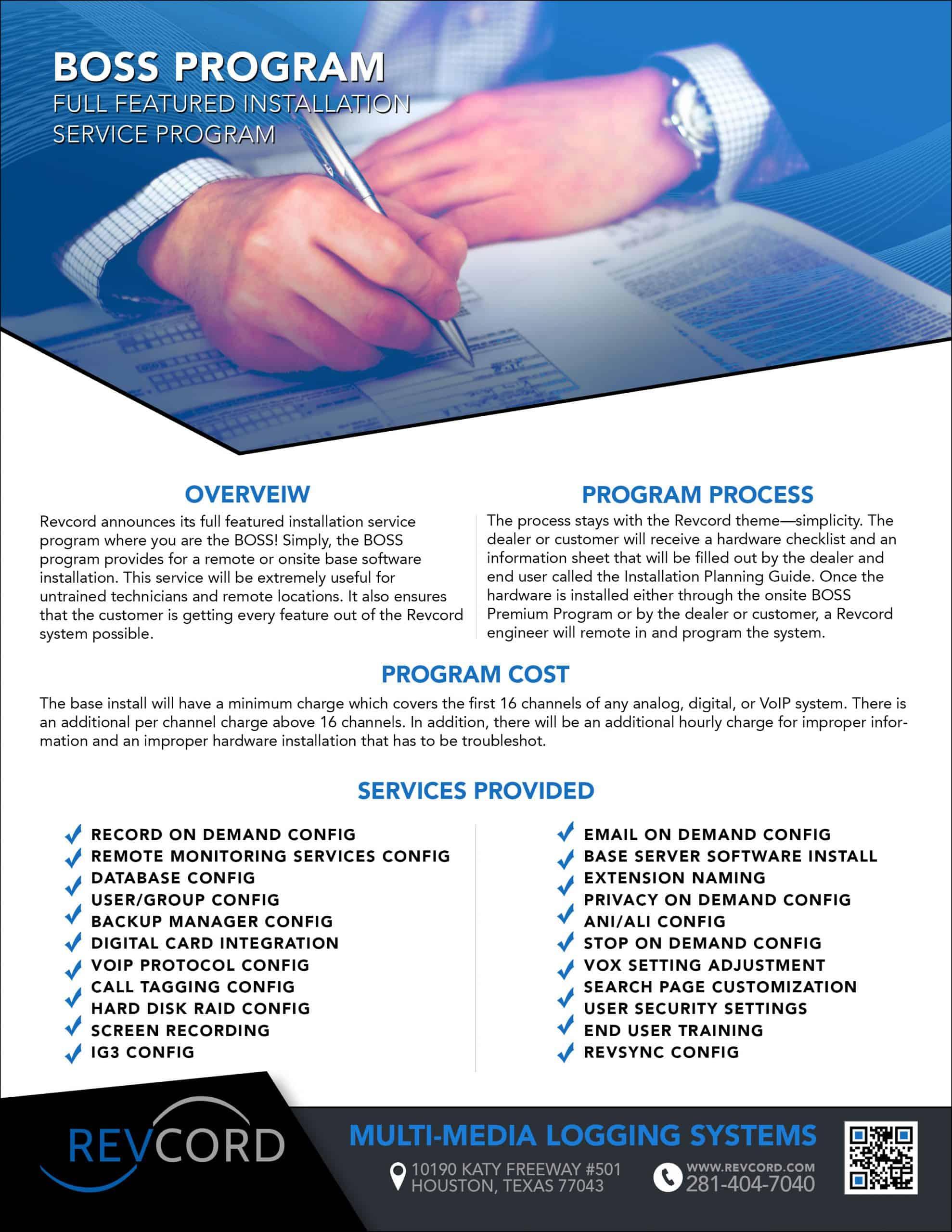 BOSS Program