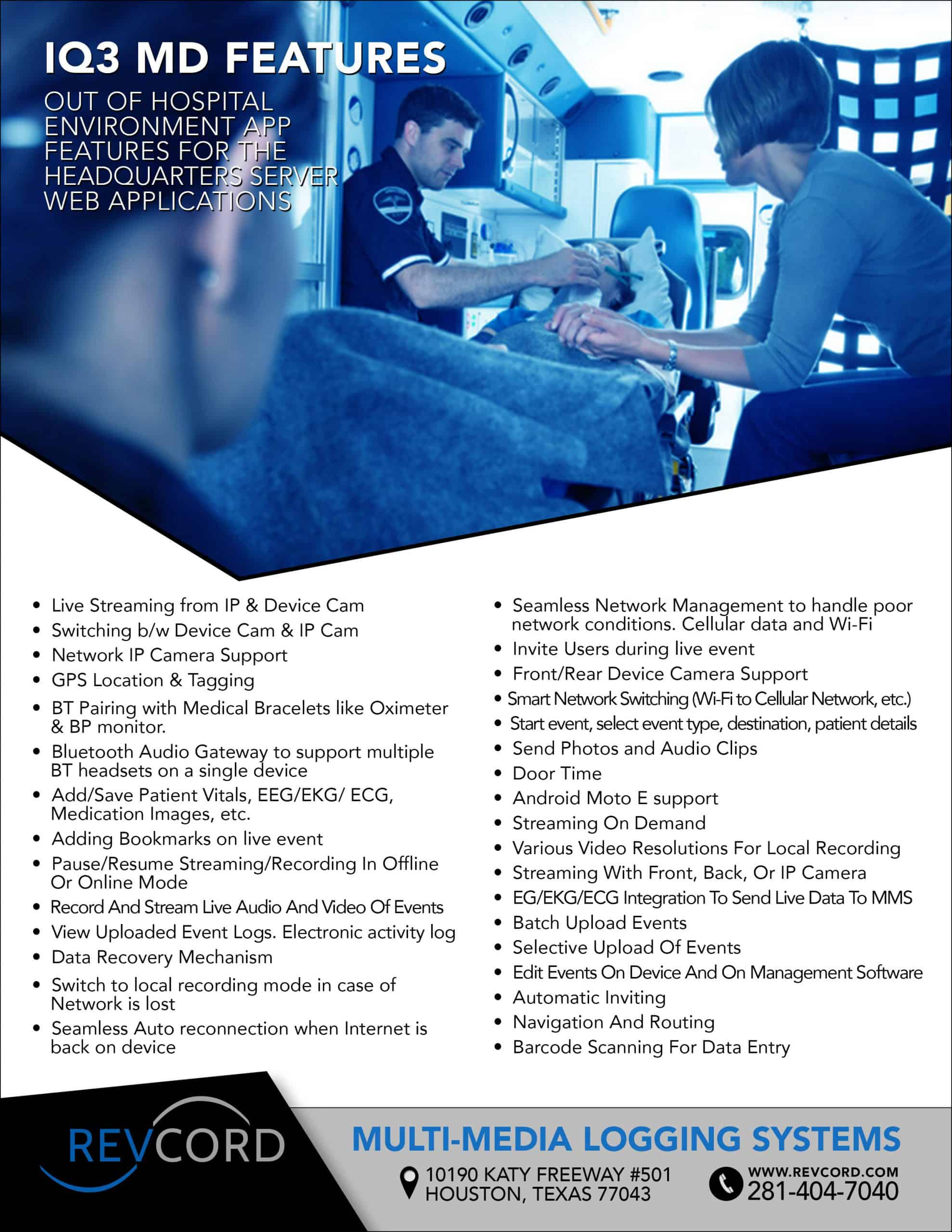 IQ3 MD Features Flyer