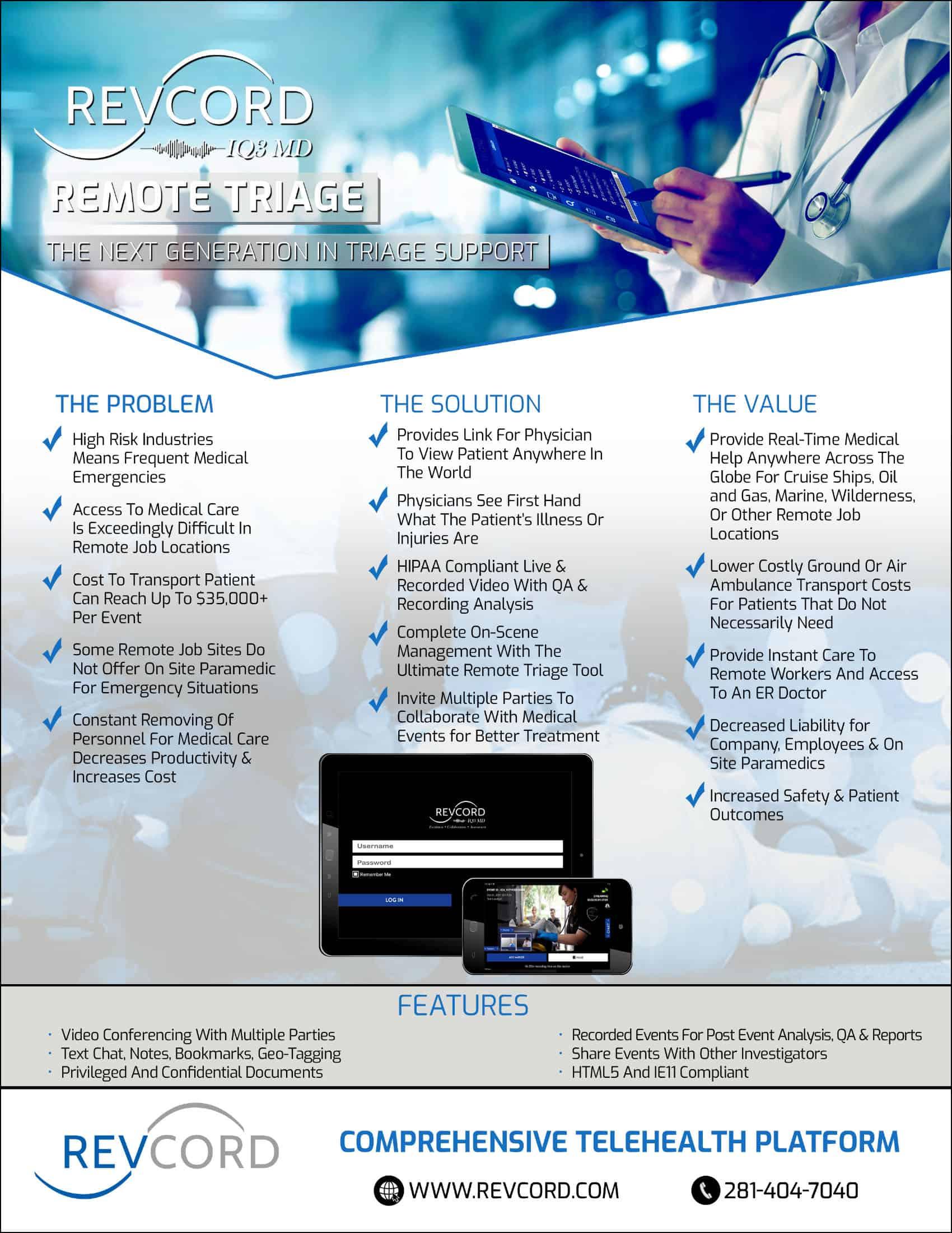 IQ3 MD Remote Triage