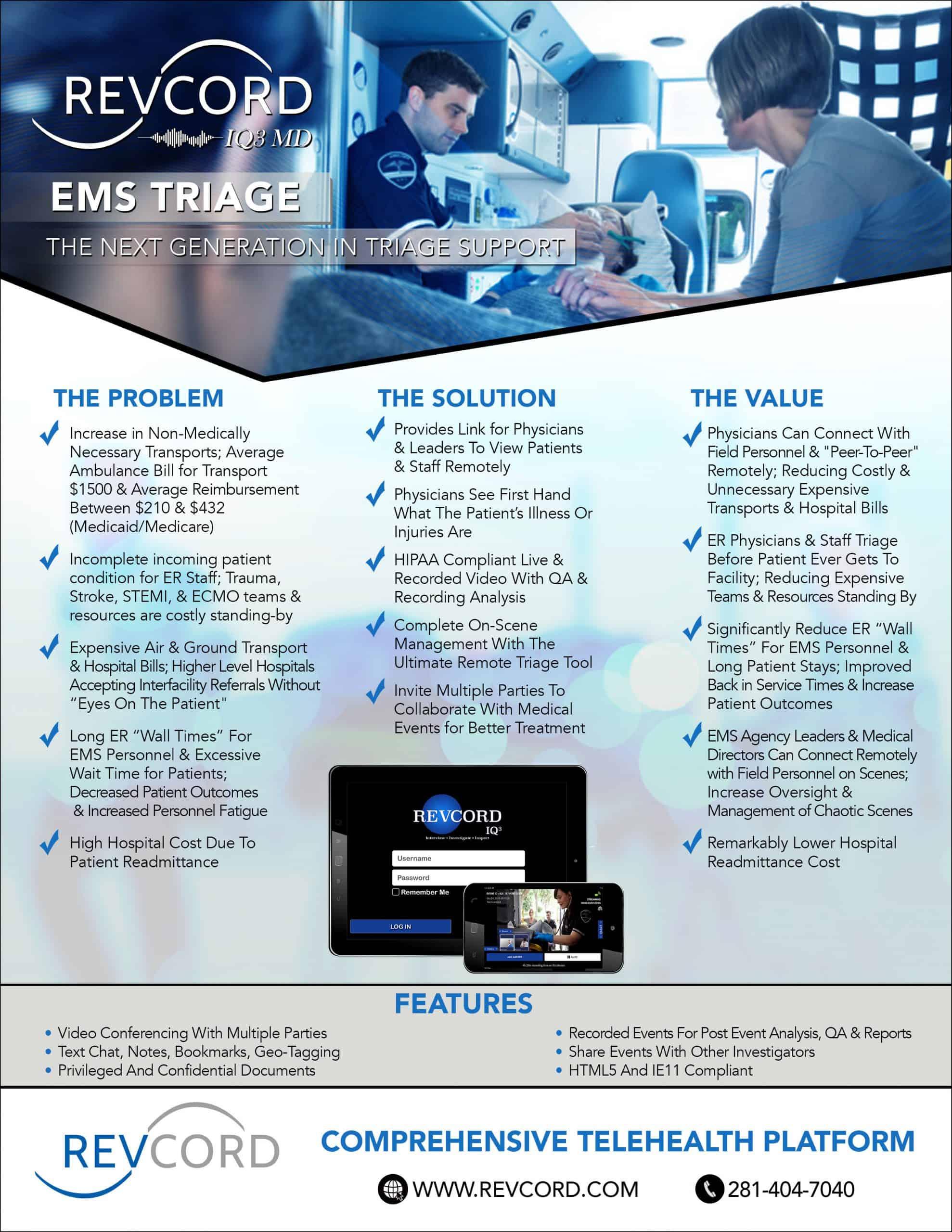 IQ3 MD EMS Triage
